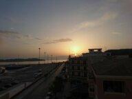 Blick aus dem Hotelfenster - Sonnenaufgang