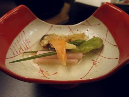 Gemüse und Muschel