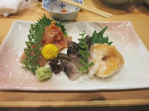 Muschel-Sashimi