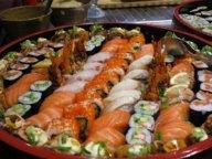 Verschiedene Sushi